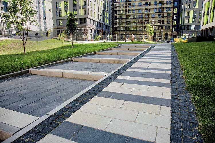 Тротуарна плитка Футуро 40-20 чорний з білим