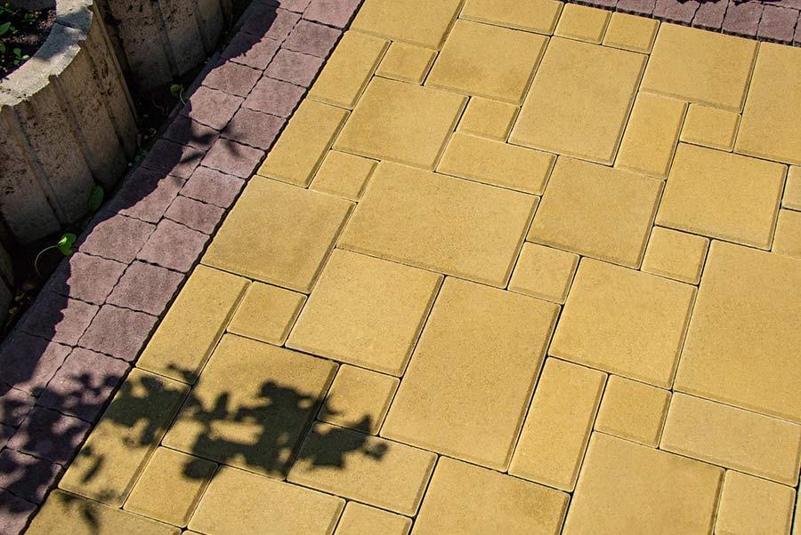 Бруківка Симфонія жовта з коричневим