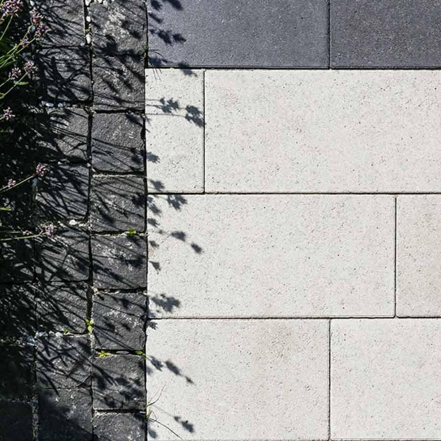 Бруківка прямокутник 40-20 білий та чорний